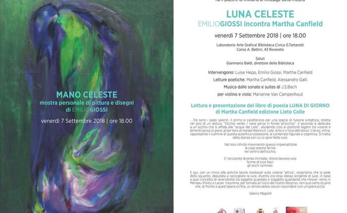 invito all'evento con dipinto di Giossi